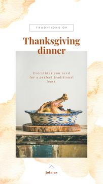 Thanksgiving Dinner Tradition Roasted Turkey | Stories Template