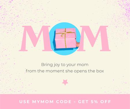 Plantilla de diseño de Gift Offer on Mother's Day in Pink Facebook