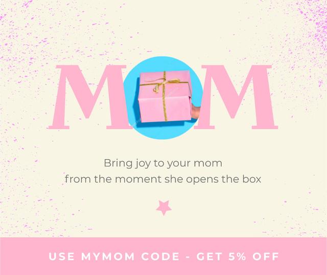 Gift Offer on Mother's Day in Pink Facebook Modelo de Design