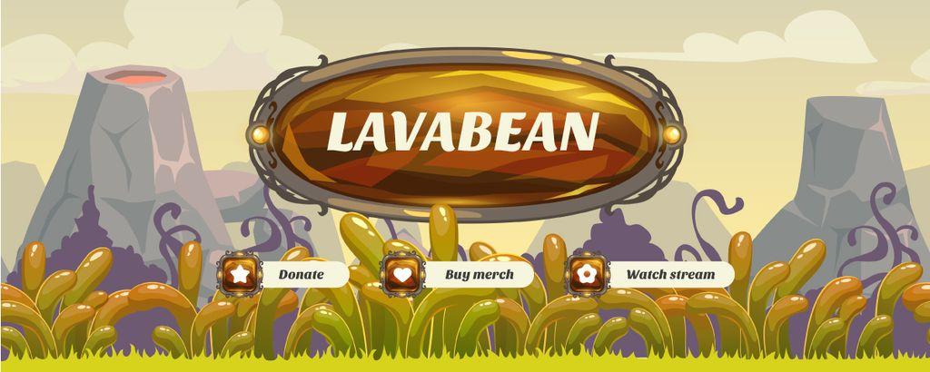 Game Stream on prehistoric landscape — Crea un design
