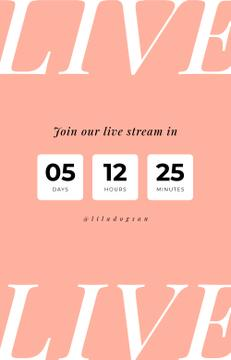 Blogger live stream countdown