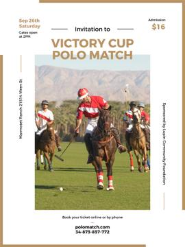 Invitation to polo match
