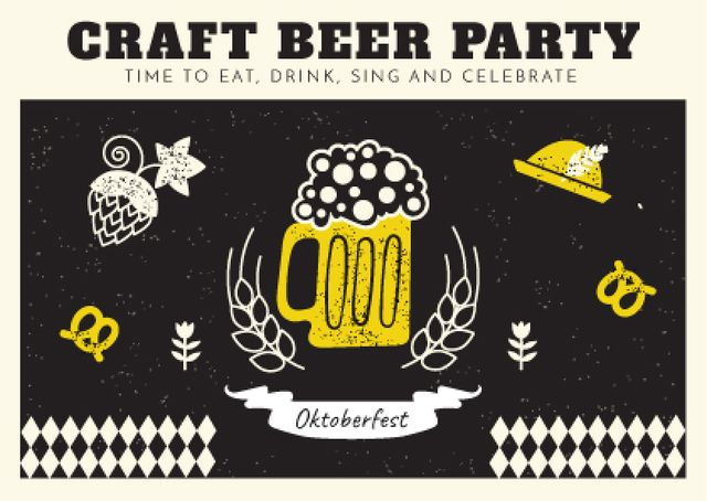 Template di design Traditional Oktoberfest treat Postcard