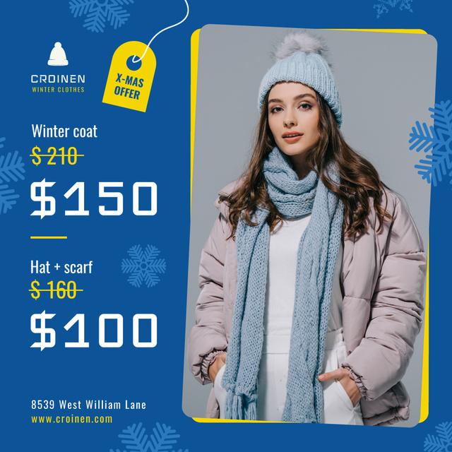 Plantilla de diseño de Fashion Sale Woman in Winter Clothes Instagram