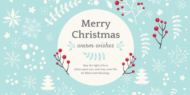 Merry Christmas card Image Design Template