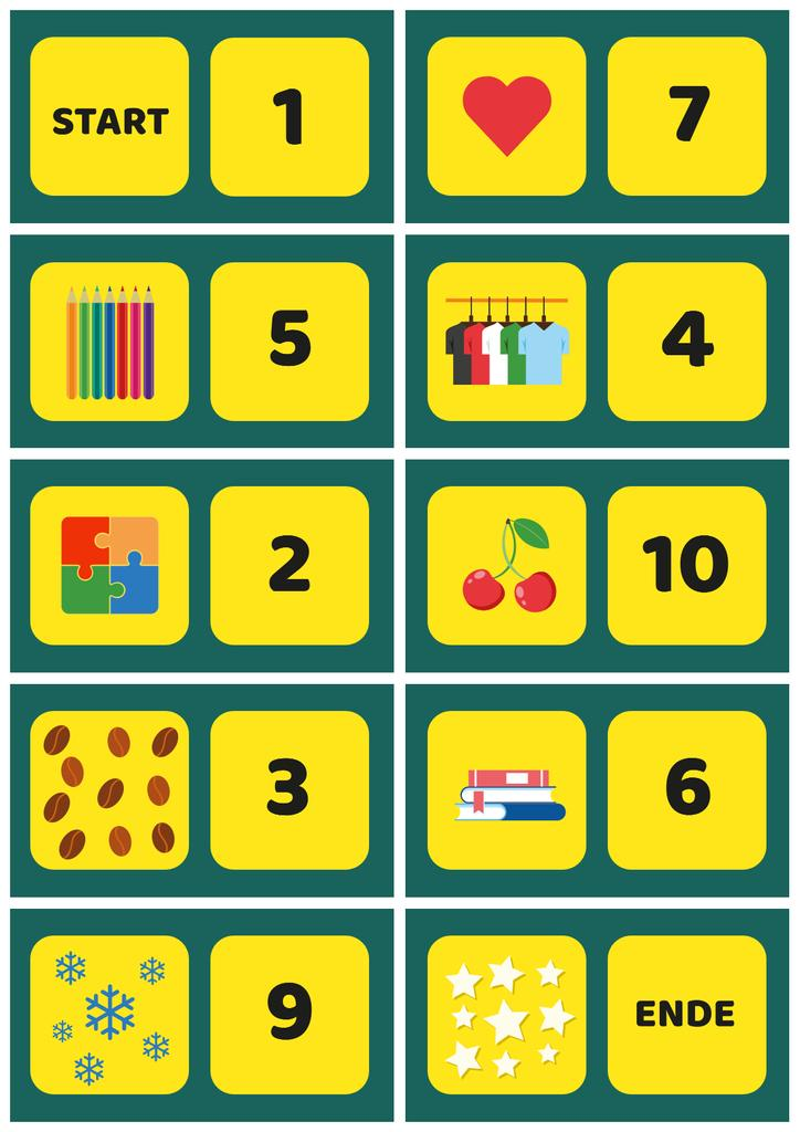 School Chart with Numbers to Count — Create a Design