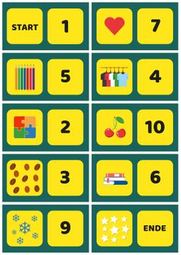 School Chart with Numbers to Count