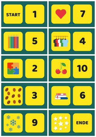 School Chart with Numbers to Count Poster Design Template