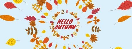 Template di design Autumn leaves frame Facebook Video cover