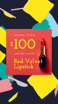 Special Offer with Red Velvet Lipstick