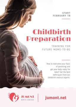 Childbirth Training Event Happy Pregnant Woman