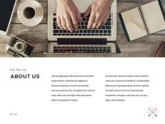 Digital Products Ad with Man Typing on Laptop