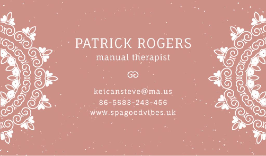 Manual Therapist Contacts Information — Maak een ontwerp