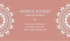 Manual Therapist Contacts Information