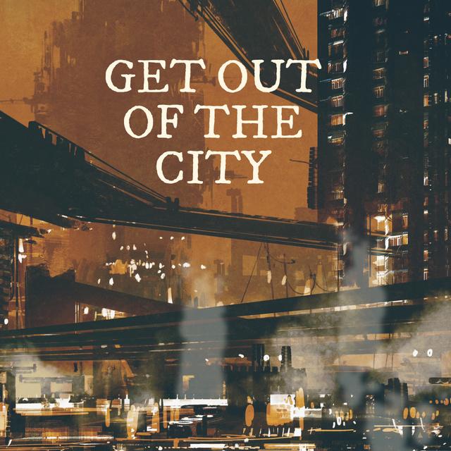 Plantilla de diseño de Night city lights Painting Animated Post