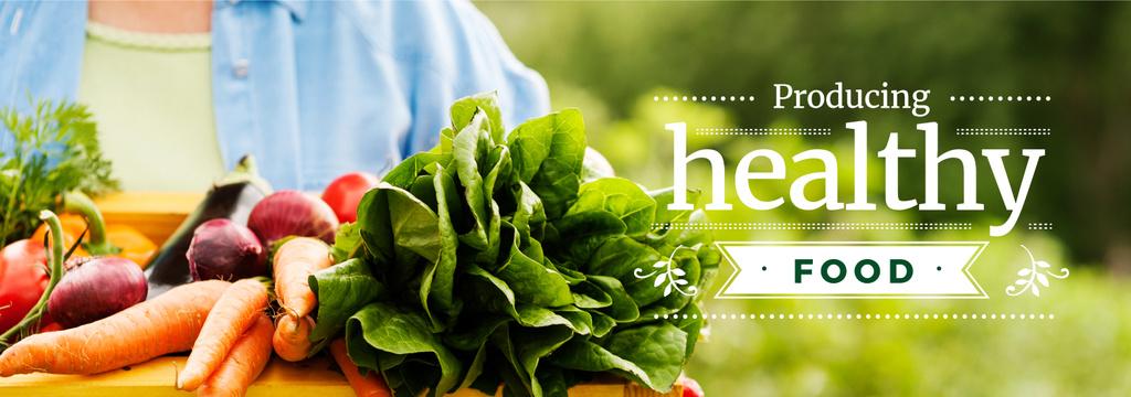 producing healthy food poster — ein Design erstellen