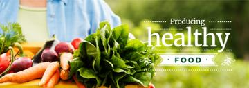 Farmer Harvesting Fresh Vegetables | Tumblr Banner Template