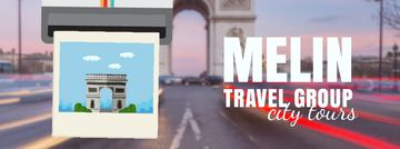Tour Invitation with Paris Arc de Triomphe