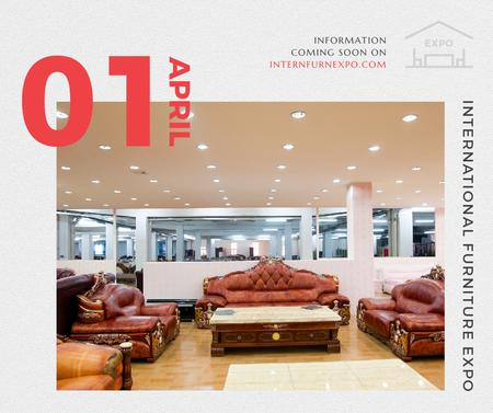 Plantilla de diseño de Furniture Expo invitation with modern Interior Facebook