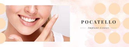 Plantilla de diseño de Female smile with white teeth Facebook cover