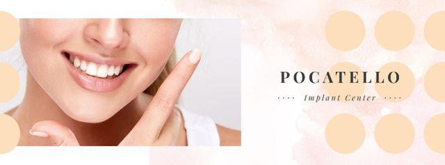 Female smile with white teeth Facebook cover Modelo de Design