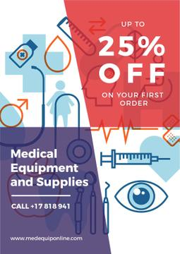 Medical Equipment Sale with Healthcare Icons