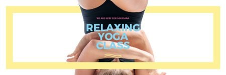 Plantilla de diseño de Relaxing yoga class offer Email header