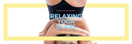 Ontwerpsjabloon van Email header van Relaxing yoga class offer