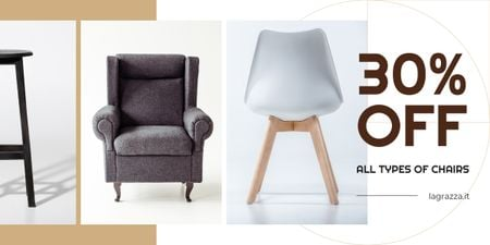 Plantilla de diseño de Furniture Sale Armchairs in Grey Image