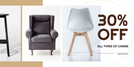 Furniture Sale Armchairs in Grey Image – шаблон для дизайна