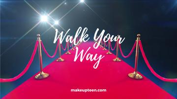 Walking on Red Carpet in Flashing Lights