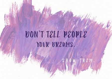 Plantilla de diseño de Citation about dreams for everyone Card