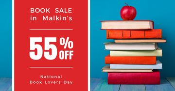 Sale discount to national book lovers day poster