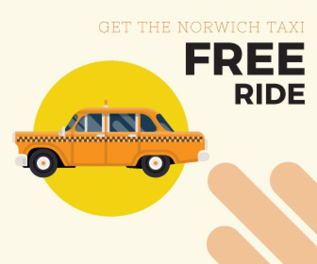 Taxi free ride ad — ein Design erstellen