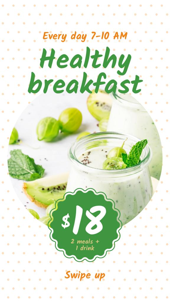 Breakfast Offer with Fruit Pudding | Stories Template — Créer un visuel