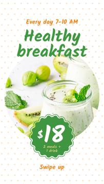 Breakfast Offer with Fruit Pudding | Stories Template