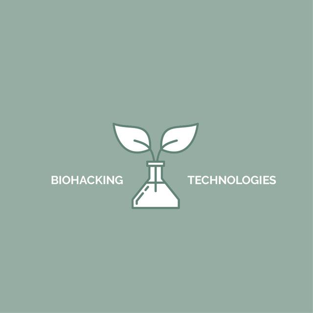 Bio Technologies with Plant in Flask Logo – шаблон для дизайна