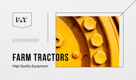 Tractor metal details Business card Modelo de Design