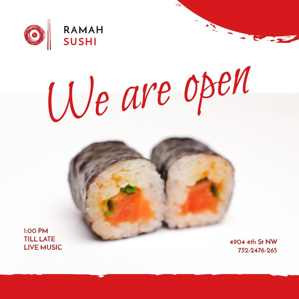 Sushi Menu Offer with Fresh Seafood Maki — Create a Design