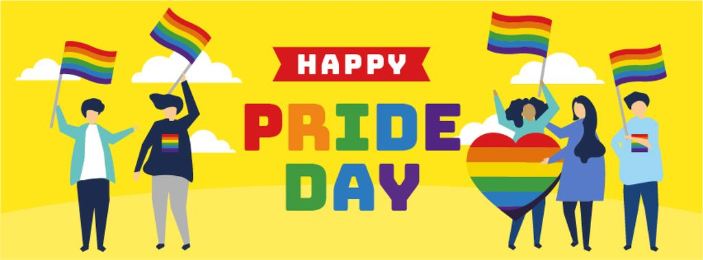 People at pride parade — Create a Design