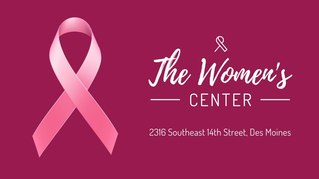 Women's Health Pink Ribbon Symbol | Full Hd Video Template — ein Design erstellen