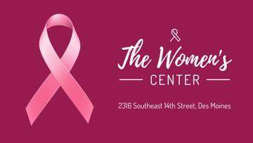 Women's Health Pink Ribbon Symbol | Full Hd Video Template