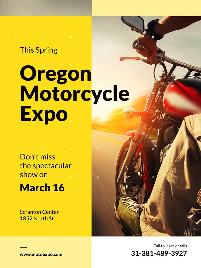 Oregon motorcycle exhibition poster — Create a Design