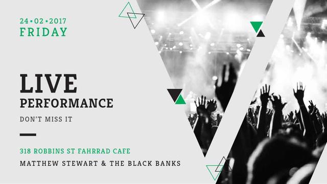 Modèle de visuel Live Performance Announcement with audience - Title