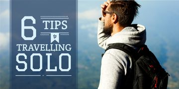 tips to travelling solo poster