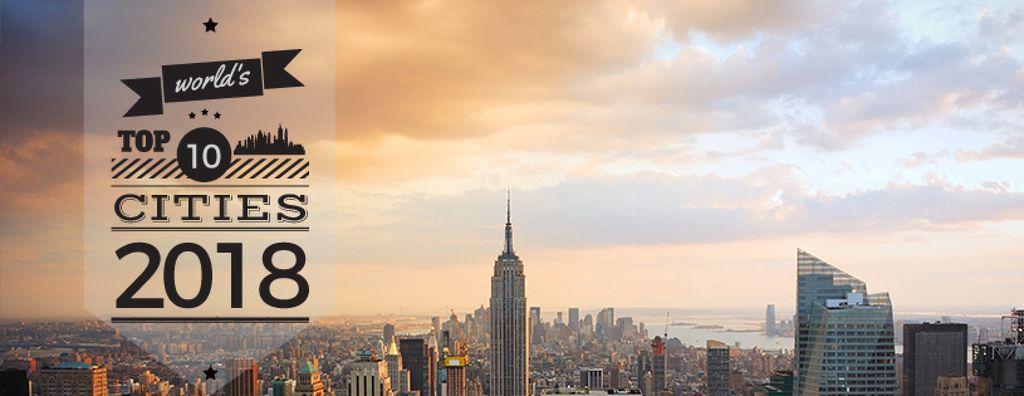 World's top cities with big city landscape — Maak een ontwerp