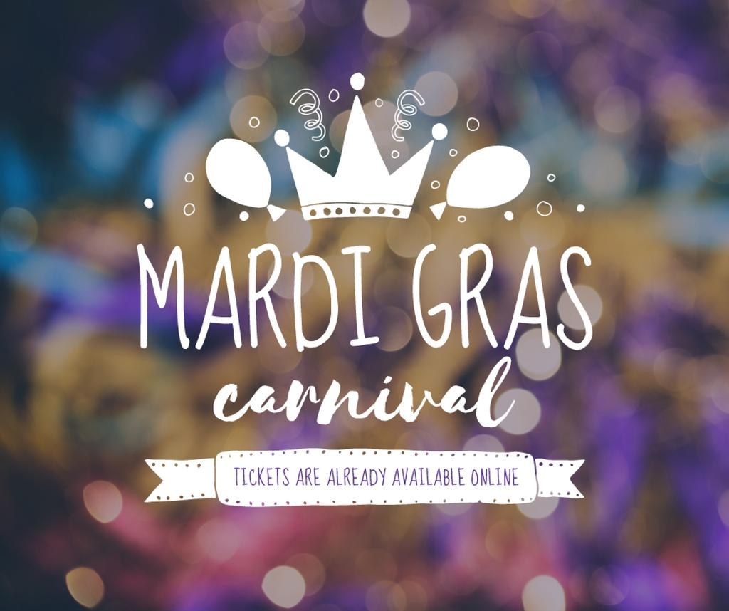 Mardi Gras carnival crown — Modelo de projeto