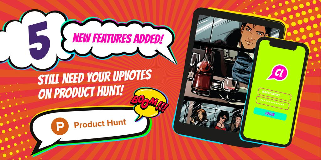 Product Hunt Campaign with App Interface on Screen — Crear un diseño