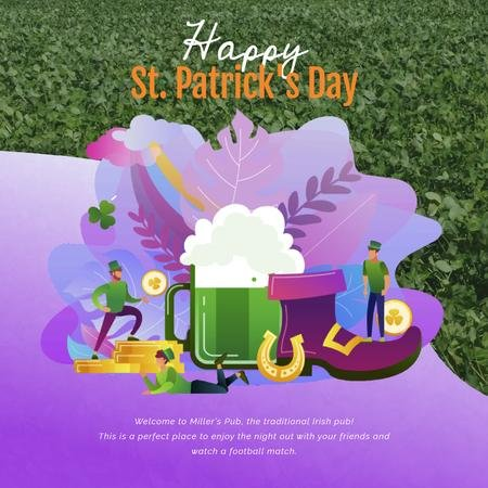 Plantilla de diseño de Saint Patrick's Celebration Attributes Animated Post