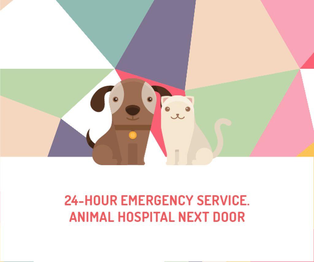 24-hour animal hospital Medium Rectangle – шаблон для дизайна